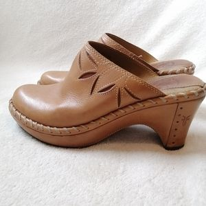 Frye faux leather Clogs